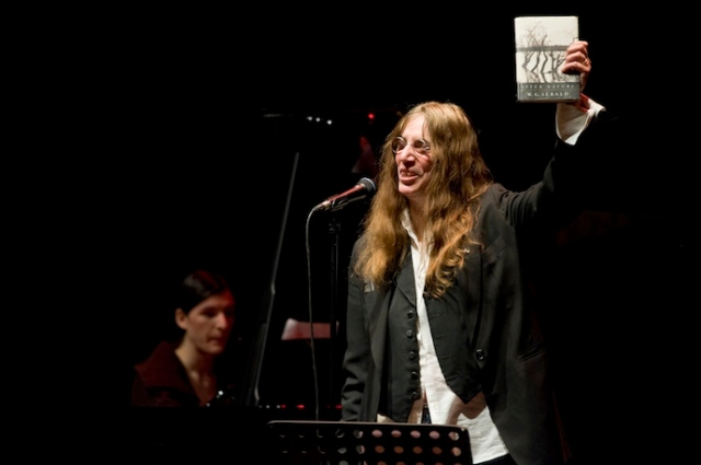 Patti Smith - tribute concert for W G Sebald in 2011. (Photo by Malcolm Watson)