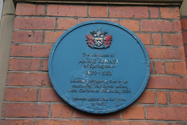 Blue Plaque to Annie Kenney - suffragette
