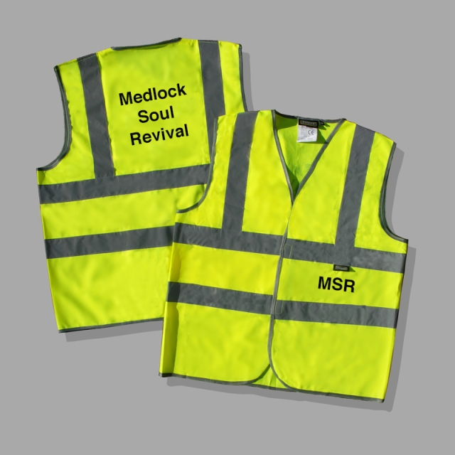 Hi vis jacket for Medlock Soul Retrieval project.